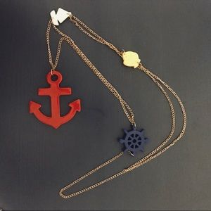 Urban Outfitters Nautical Anchor Necklace